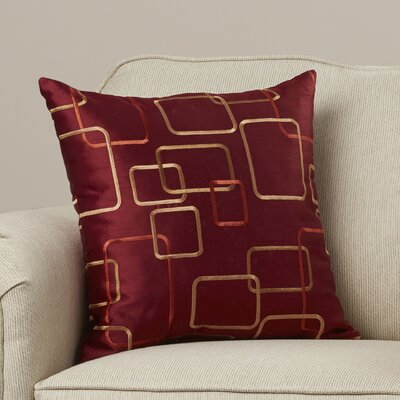 Somerset Throw Pillow Color: Merlot