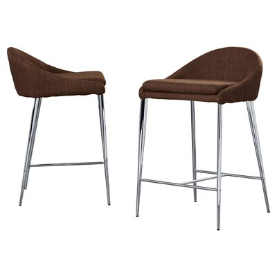 Angela 24.4 Bar Stool Upholstery: Tobacco