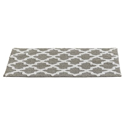 Valencia Bath Rug Color: Neutral Gray White