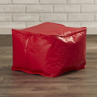Abraham Bean Bag Chair Upholstery: Scarlet