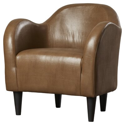 Potts Barrel Chair Upholstery: Molasses Faux Leather