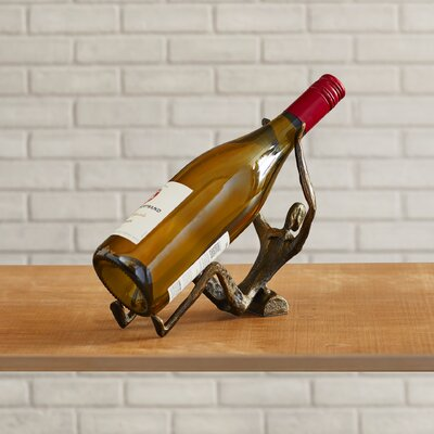 Parsons Man Laying 1 Bottle Tabletop Wine Rack