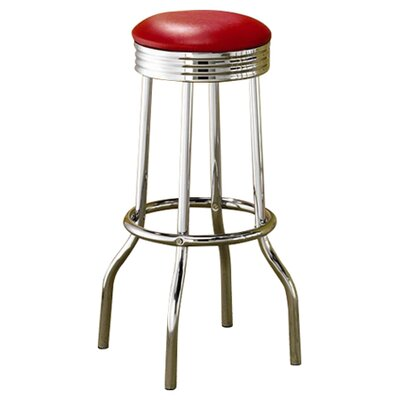 Hagert 29 Bar Stool Upholstery: Red