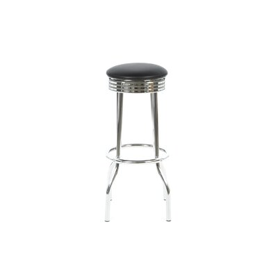 Hagert 29 Bar Stool Upholstery: Black