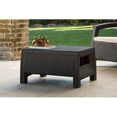 Colona All Weather Outdoor Coffee Table Finish: Brown