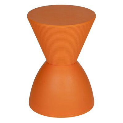 Elkins Park End Table Color: Orange