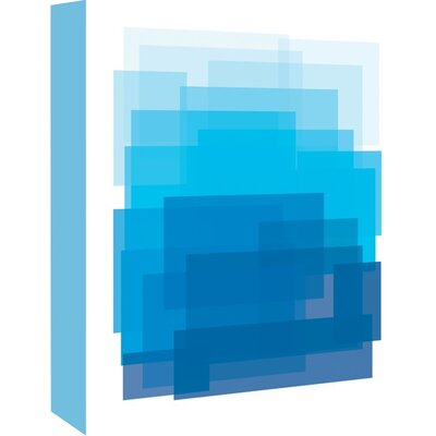 Cabrini Ombre Graphic Art on Wrapped Canvas Size: 14