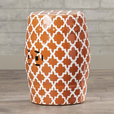 Holgate Ceramic Garden Stool Color: Orange