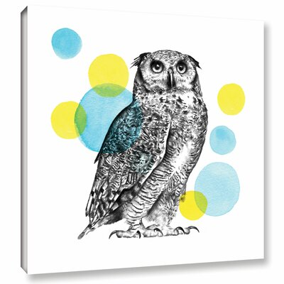 Sketchbook Lodge Owl Graphic Art on Wrapped Canvas Size: 10