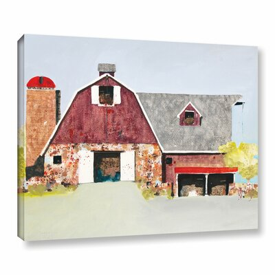 Barn No. 2 Painting Print on Wrapped Canvas Size: 14