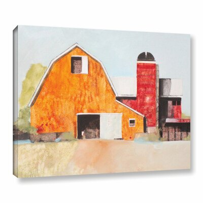 Barn No. 3 Painting Print on Wrapped Canvas Size: 24