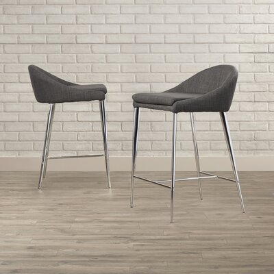Angela 24.4 Bar Stool Upholstery: Graphite