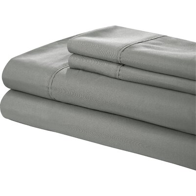 Little Italy 400 Series Peach Skin Sheet Set Color: Grey, Size: Full