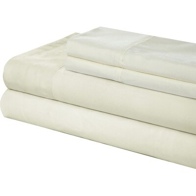 Little Italy 400 Series Peach Skin Sheet Set Size: King, Color: White