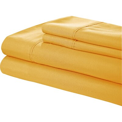 Little Italy 400 Series Peach Skin Sheet Set Color: Yellow, Size: Full