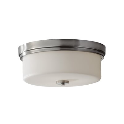 Wyncote 2-Light Flush Mount Size: 6.69 H x 15 D