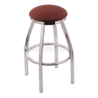 Cragin 30 Swivel Bar Stool Finish: Chrome, Upholstery: Axis Paprika