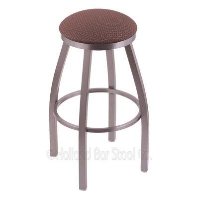 Cragin 30 Swivel Bar Stool Finish: Stainless, Upholstery: Axis Willow