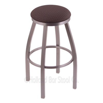 Cragin 30 Swivel Bar Stool Finish: Stainless, Upholstery: Axis Truffle