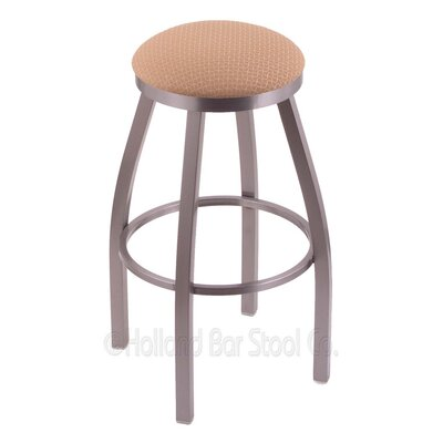 Cragin 30 Swivel Bar Stool Finish: Stainless, Upholstery: Axis Summer