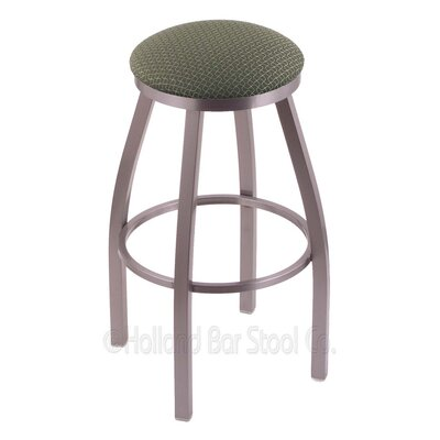 Cragin 30 Swivel Bar Stool Finish: Stainless, Upholstery: Axis Grove