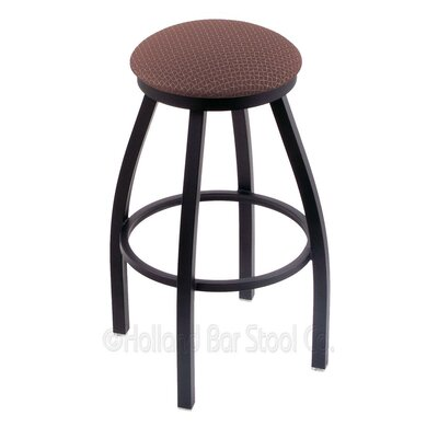 Cragin 30 Swivel Bar Stool Finish: Black Wrinkle, Upholstery: Axis Willow