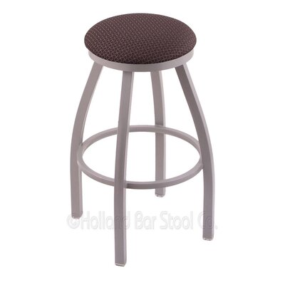 Cragin 30 Swivel Bar Stool Finish: Anodized Nickel, Upholstery: Axis Truffle