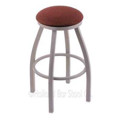 Cragin 30 Swivel Bar Stool Finish: Anodized Nickel, Upholstery: Axis Paprika