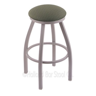 Cragin 30 Swivel Bar Stool Finish: Anodized Nickel, Upholstery: Axis Grove