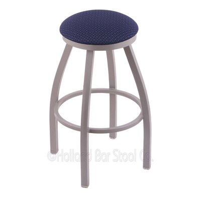 Cragin 30 Swivel Bar Stool Finish: Anodized Nickel, Upholstery: Axis Denim