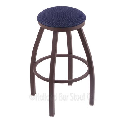 Cragin 30 Swivel Bar Stool Finish: Bronze, Upholstery: Axis Denim