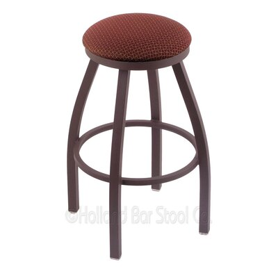 Cragin 30 Swivel Bar Stool Finish: Bronze, Upholstery: Axis Paprika