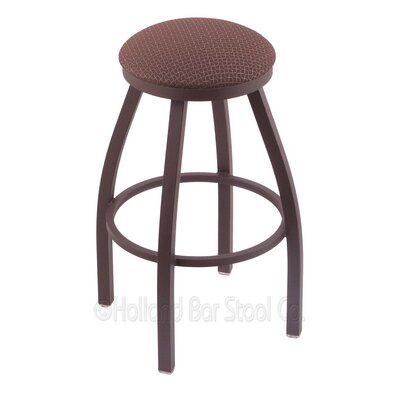 Cragin 30 Swivel Bar Stool Finish: Bronze, Upholstery: Axis Willow