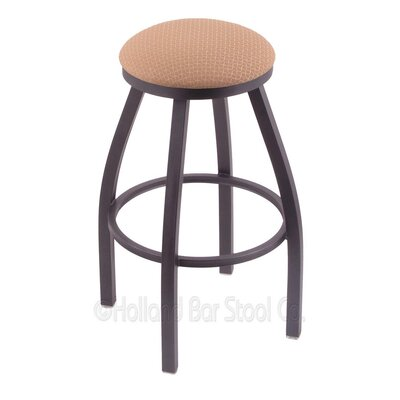 Cragin 30 Swivel Bar Stool Finish: Pewter, Upholstery: Axis Summer