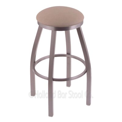 Cragin 25 Swivel Bar Stool Finish: Stainless, Upholstery: Rein Thatch