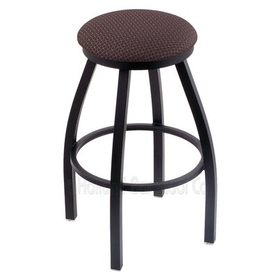 Cragin 36 Swivel Bar Stool Finish: Black Wrinkle, Upholstery: Axis Truffle