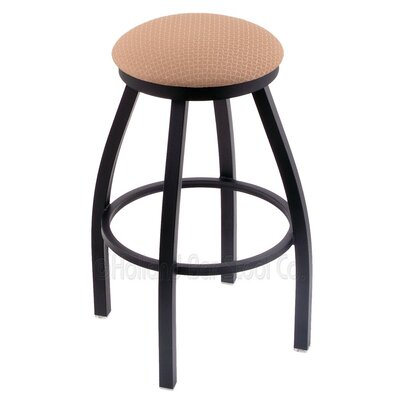 Cragin 25 Swivel Bar Stool Finish: Black Wrinkle, Upholstery: Axis Summer