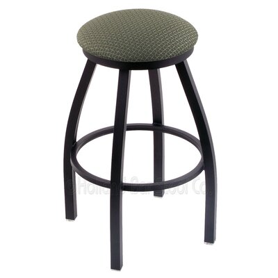 Cragin 25 Swivel Bar Stool Finish: Black Wrinkle, Upholstery: Axis Grove