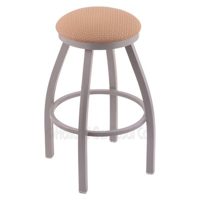 Cragin 25 Swivel Bar Stool Finish: Anodized Nickel, Upholstery: Axis Summer