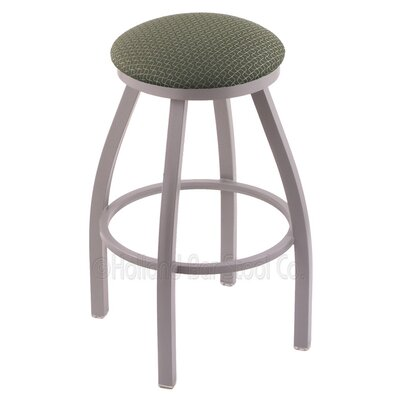 Cragin 36 Swivel Bar Stool Finish: Anodized Nickel, Upholstery: Axis Grove