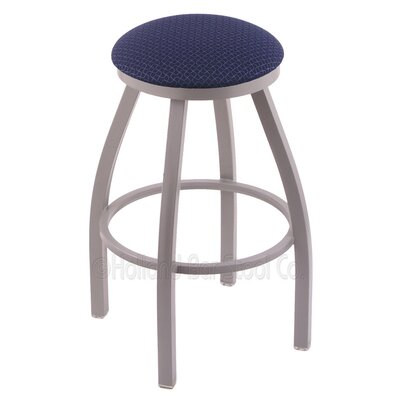Cragin 25 Swivel Bar Stool Finish: Anodized Nickel, Upholstery: Axis Denim
