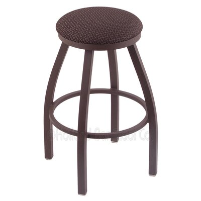 Cragin 30 Swivel Bar Stool Finish: Bronze, Upholstery: Axis Truffle
