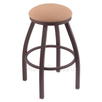 Cragin 36 Swivel Bar Stool Finish: Bronze, Upholstery: Axis Summer