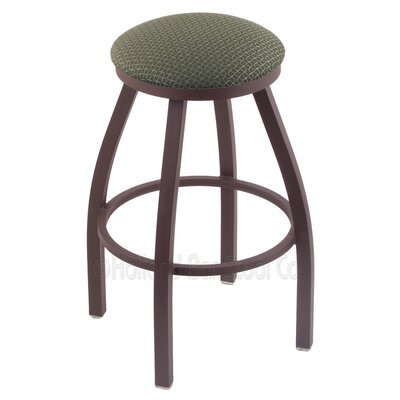 Cragin 36 Swivel Bar Stool Finish: Bronze, Upholstery: Axis Grove