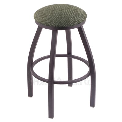 Cragin 30 Swivel Bar Stool Finish: Pewter, Upholstery: Axis Grove