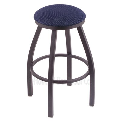 Cragin 30 Swivel Bar Stool Finish: Pewter, Upholstery: Axis Denim