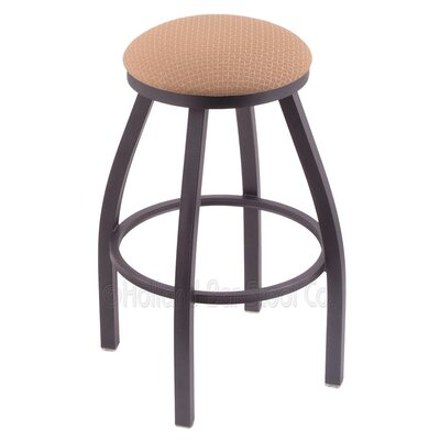 Cragin 36 Swivel Bar Stool Finish: Pewter, Upholstery: Axis Summer