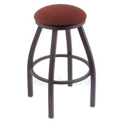Cragin 30 Swivel Bar Stool Finish: Pewter, Upholstery: Axis Paprika