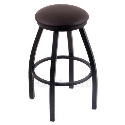 Cragin 25 Swivel Bar Stool Finish: Black Wrinkle, Upholstery: Allante Espresso