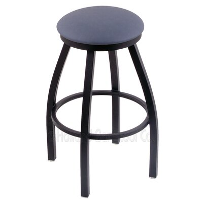Cragin 25 Swivel Bar Stool Finish: Black Wrinkle, Upholstery: Rein Bay